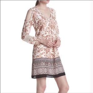 Daniel Rainn Floral Boho Cold Shoulder Dress